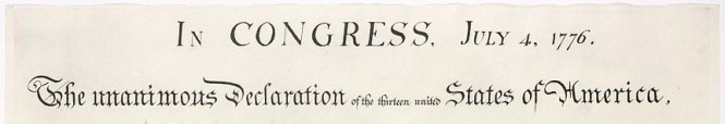 Declaration of Independence Title